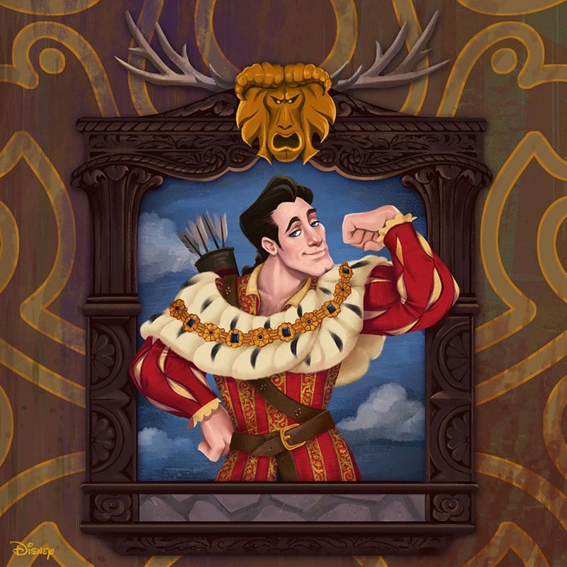 Portrait renaissance-inspired painting of Gaston