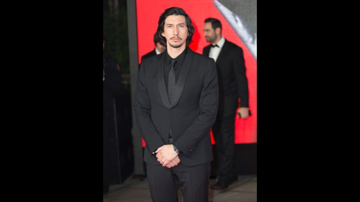Adam Driver on the red carpet at the Star: Wars The Last Jedi premiere