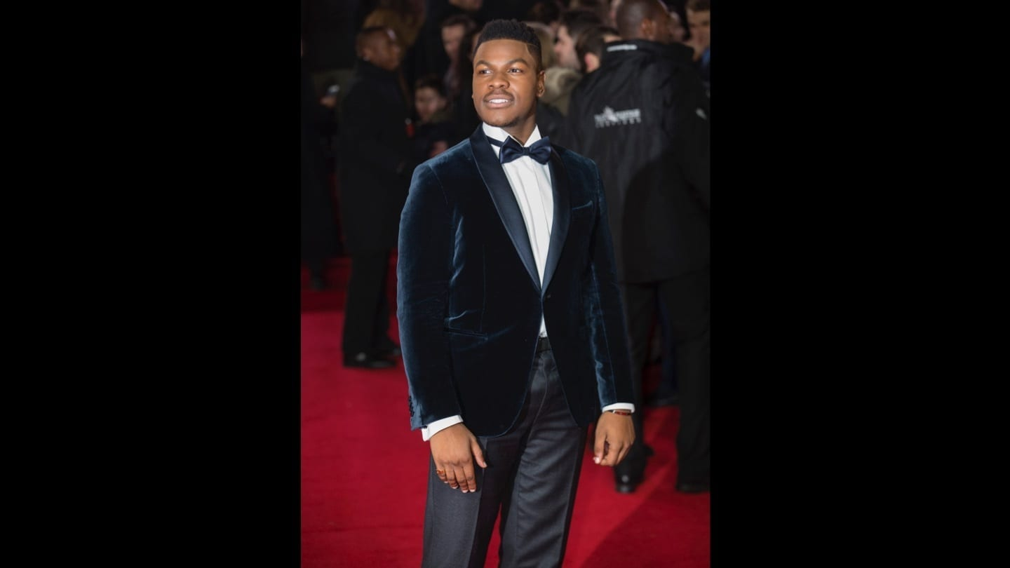 John Boyega on the red carpet at the Star: Wars The Last Jedi premiere