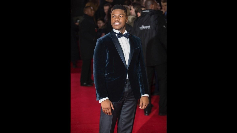 John Boyega on the red carpet at the Star: Wars The Last Jedi premiere