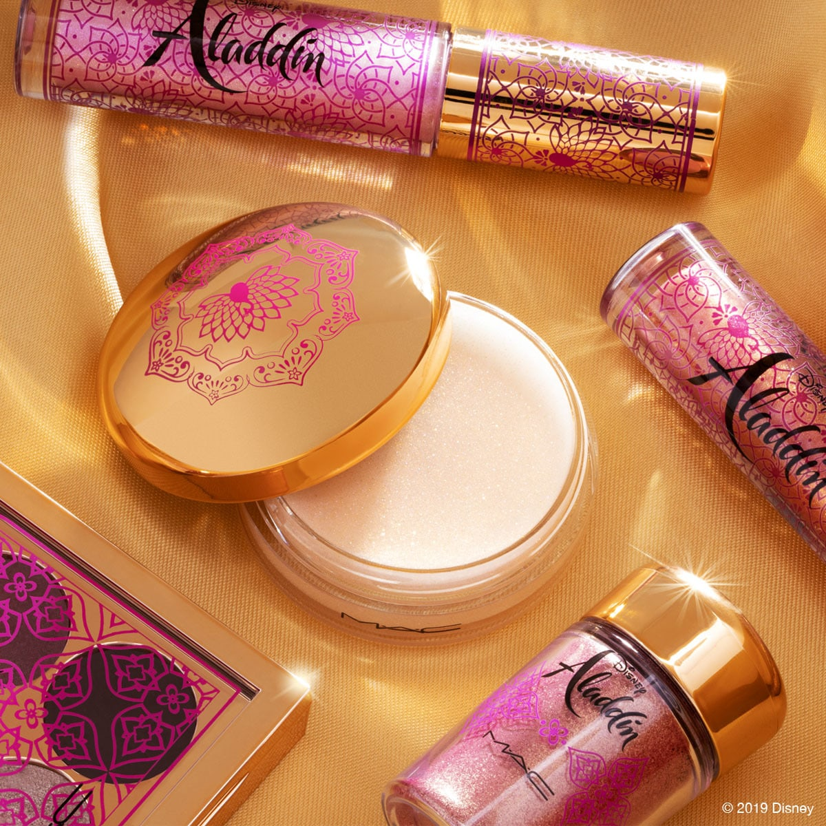 Makeup products from the Aladdin Collection by MAC