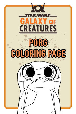 Porg Coloring Page