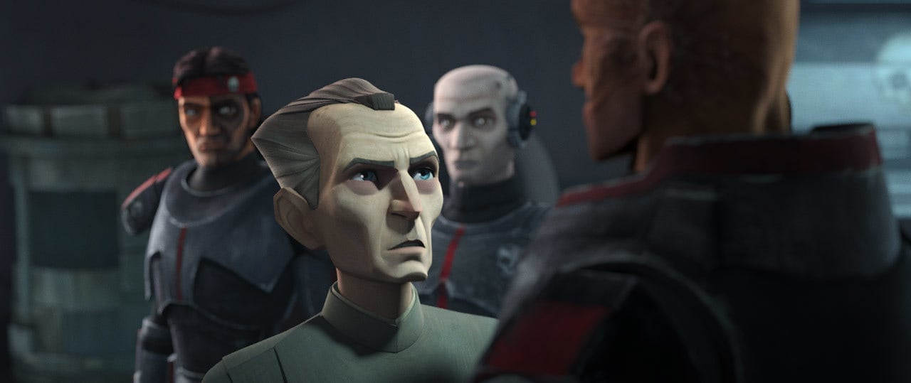 Grand Moff Tarkin talking with Wrecker