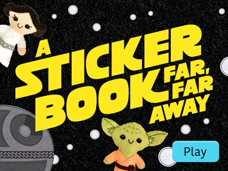 A Sticker Book Far, Far Away