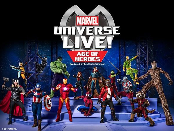 Marvel Universe Live! Age of Heroes. Produced by Feld Entertainment.