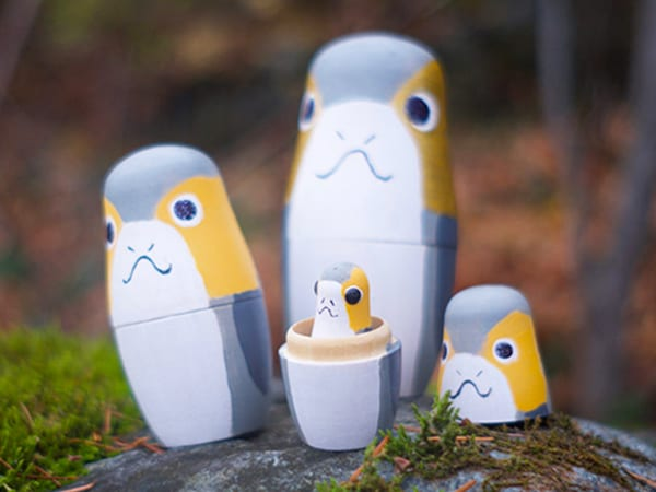 It's Time for the Jedi to Make Porg Nesting Dolls