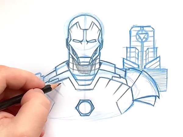 Learn to Draw Iron Man at Home