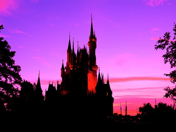 Check Out This Magical Sunrise from Cinderella Castle at Walt Disney World Resort
