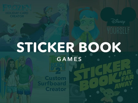New Game Category - Sticker Book Games