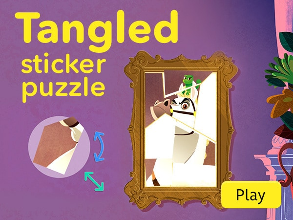 Tangled: Sticker by Number