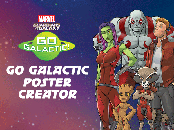 Go Galactic: Guardians of the Galaxy Poster Creator