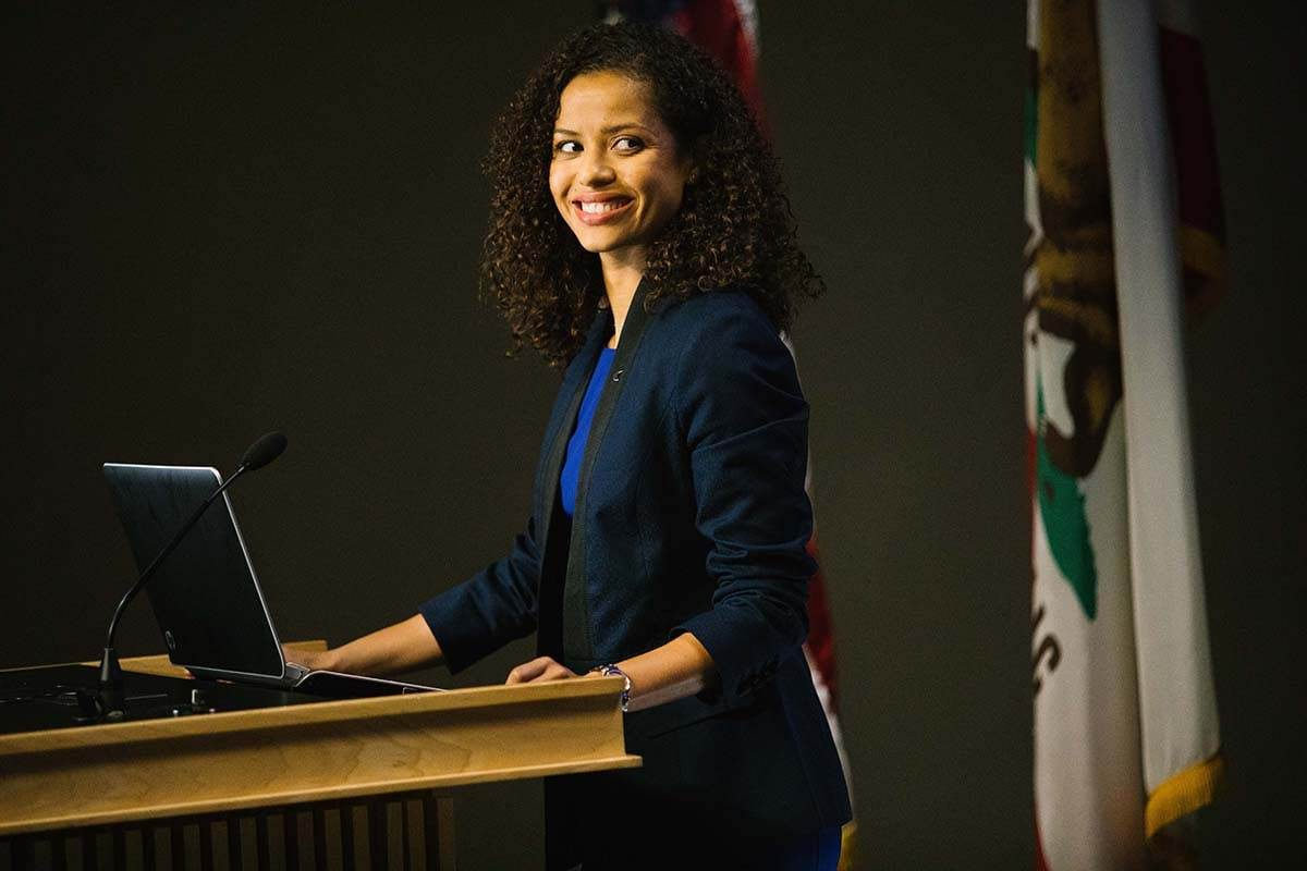 """Gugu Mbatha-Raw as Mrs. Murry in the film """"A Wrinkle in Time"""""""