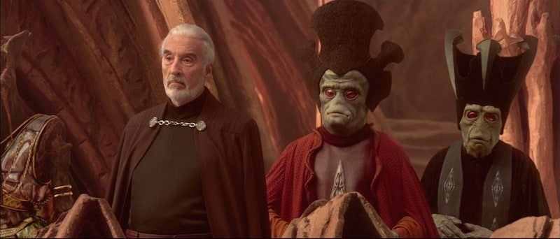 Nute Gunray and Count Dooku before the Battle of Geonosis