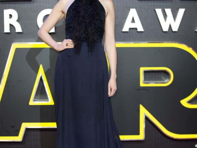 Gwendoline Christie, known as Captain Phasma in The Force Awakens, looked to be having a fun time...