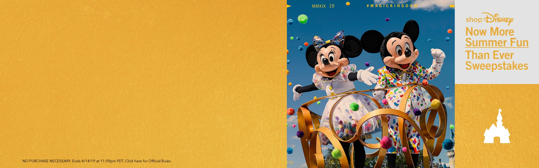 shopDisney Now More Than Ever Sweepstakes