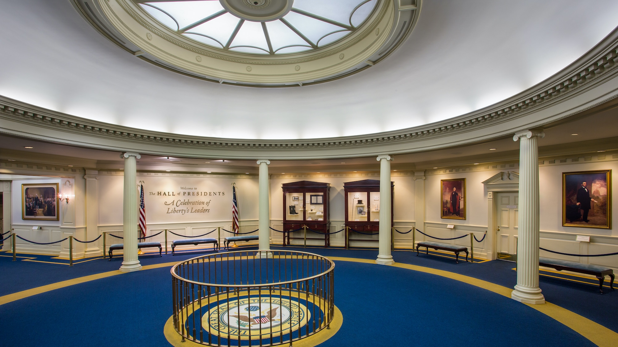 Image of The Hall of Presidents interior.
