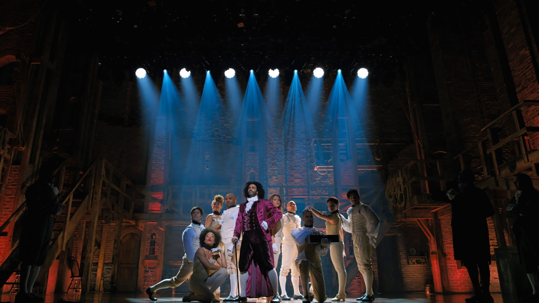 Daveed Diggs is the Marquis de Lafayette in HAMILTON, the filmed version of the original Broadway production.