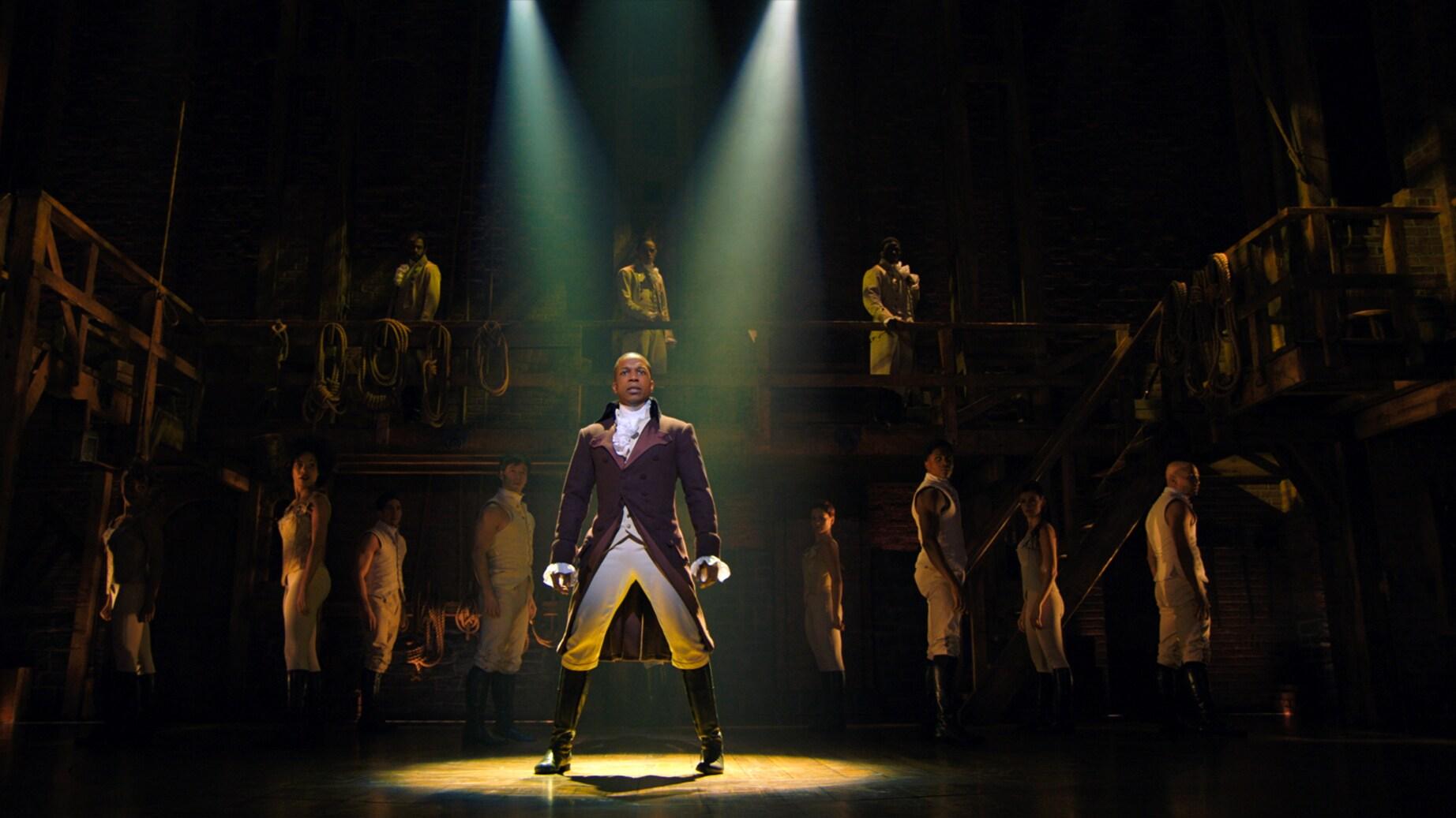 Leslie Odom, Jr. is Aaron Burr in HAMILTON, the filmed version of the original Broadway production.