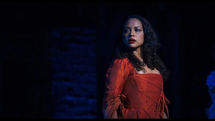 Jasmine Cephas Jones is Maria Reynolds in HAMILTON, the filmed version of the original Broadway production.