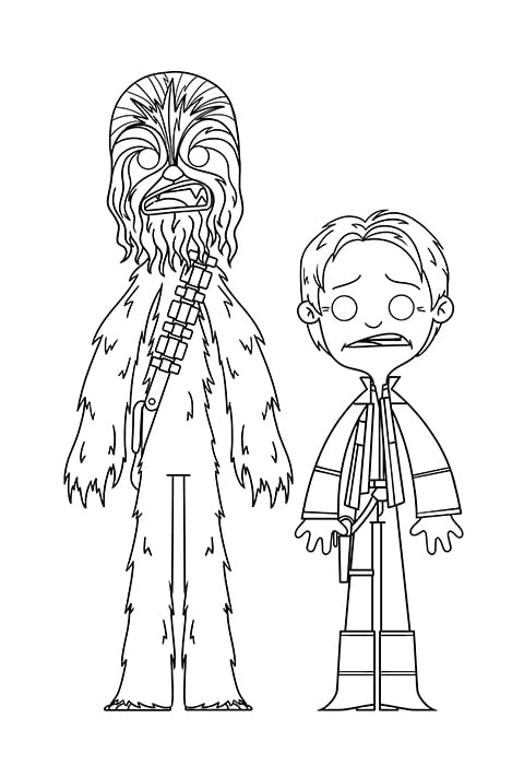 Star Wars - Han Solo and Chewy