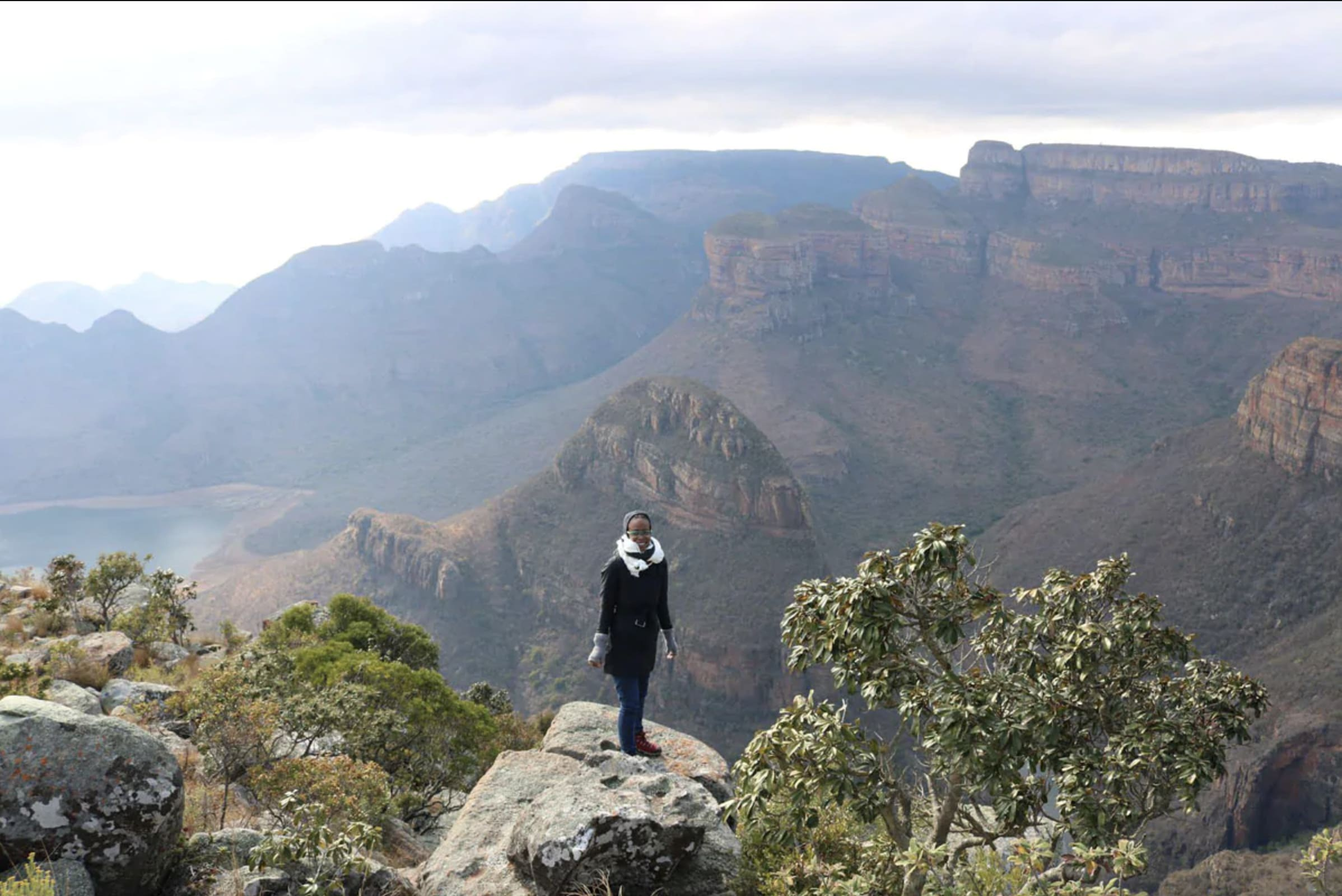 Black Panther Production Designer Hannah Beachler at Blyde Canyon South Africa