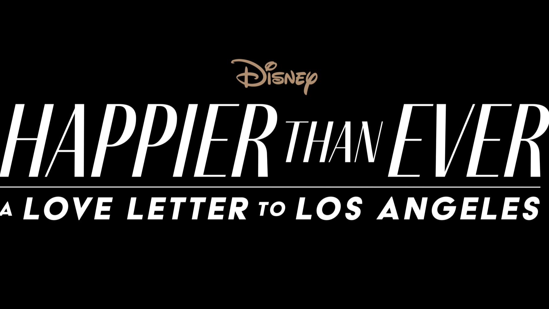 Happier than Ever: A Love Letter to Los Angeles Logo
