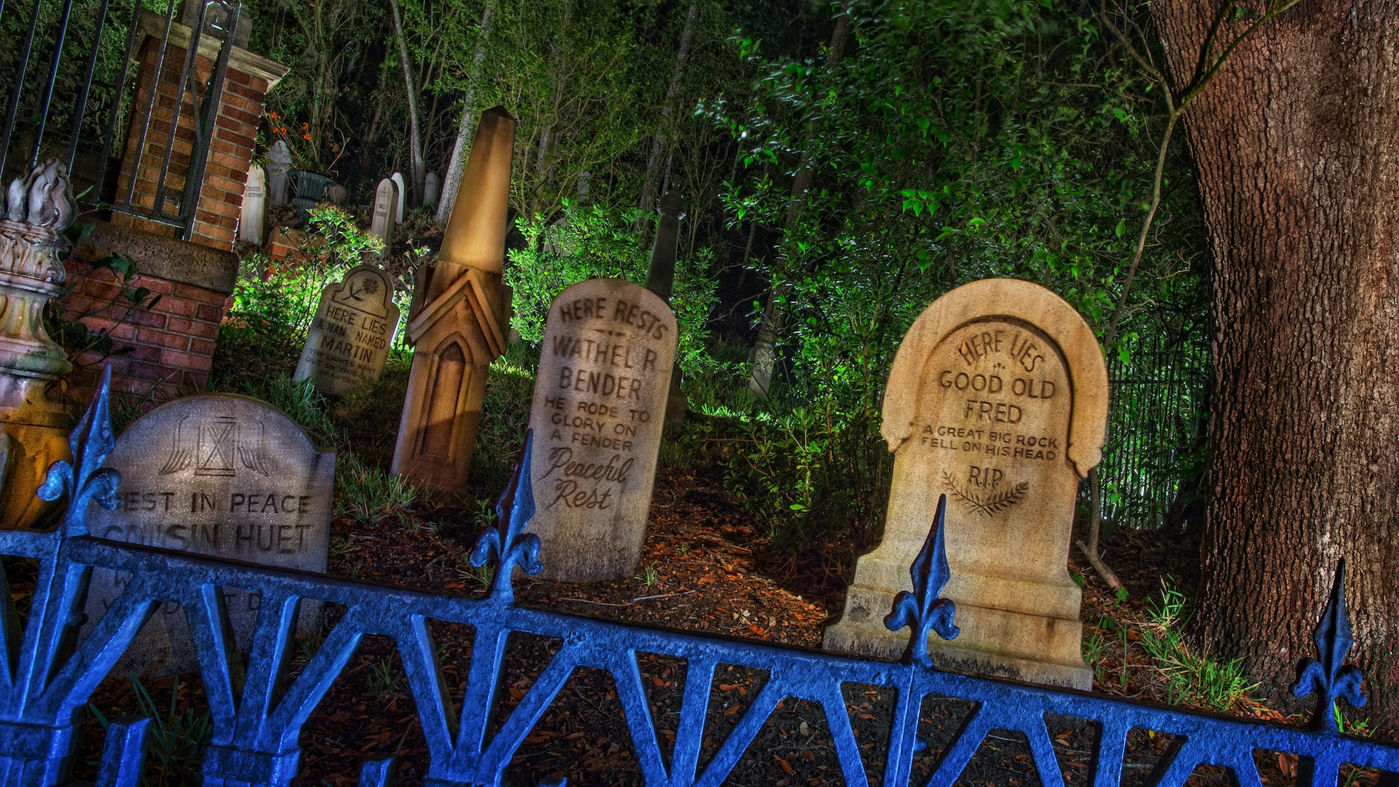 Image of gravestones from the Haunted Mansion.