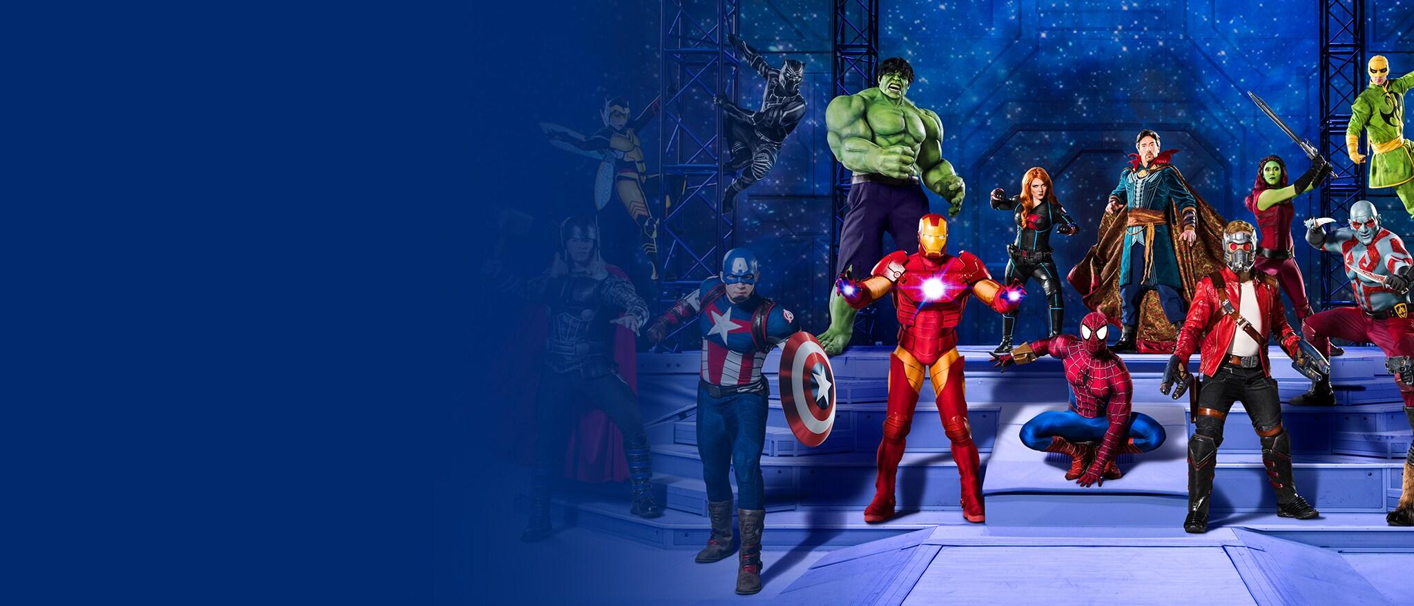 Marvel Universe Live! - Live Shows landing page - EMEA banner