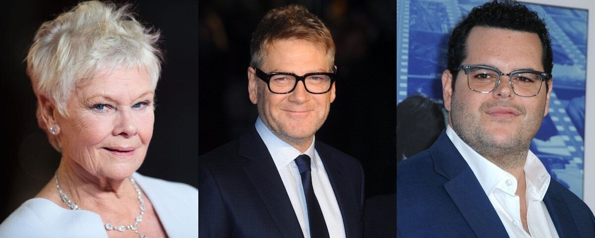 Judi Dench, Kenneth Branagh and Josh Gad in side by side images for the header picture.