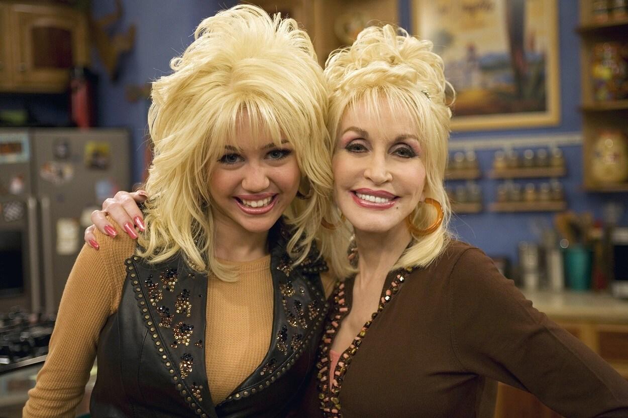 Miley y Dolly Parton