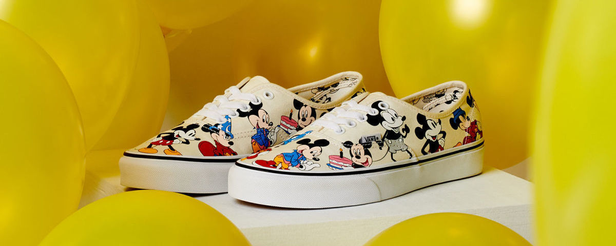 Mickey Mouse themed Vans' original footwear