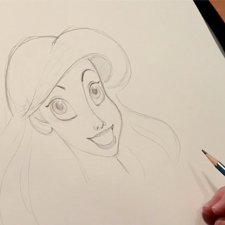 "Make a Drawing Part of Your World: Learn to Draw Ariel From ""The Little Mermaid"""