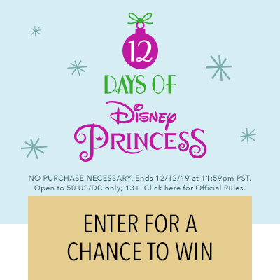 12 Days of Disney Princess Sweepstakes