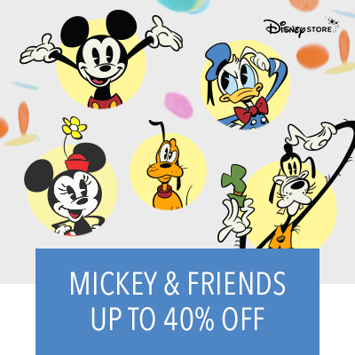 Up to 40% Off Mickey & Friends
