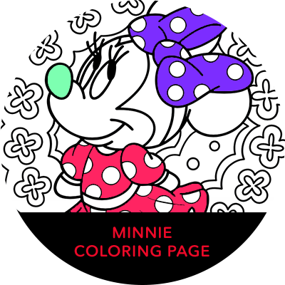 Rock The Dots - Minnie Coloring Page