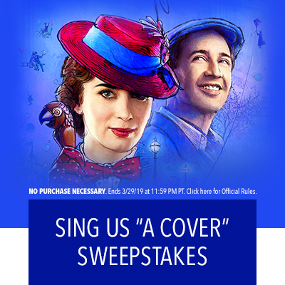 "Sing Us ""A Cover"" Sweepstakes"