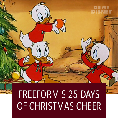 FREEFORM'S 25 DAYS OF CHRISTMAS SCHEDULE