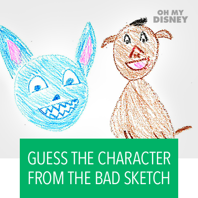 Quiz: Guess the character from the bad sketch.