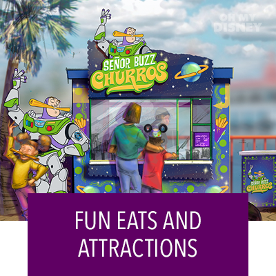 CHECK OUT THE FUN EATS AND ATTRACTIONS COMING TO PIXAR PIER