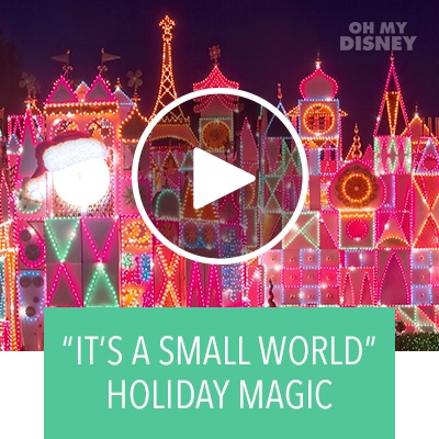 "Watch ""It's a small world"" Holiday at Disneyland Transform 