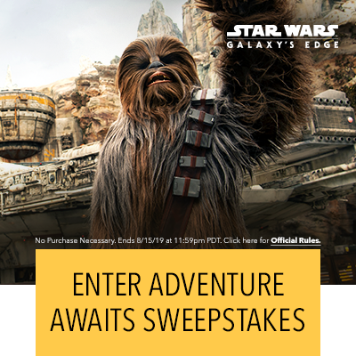 Enter Adventure Awaits Sweepstakes. No Purchase Necessary. Ends 8/15/19 at 11:59pm PDT. Click here for Official Rules.