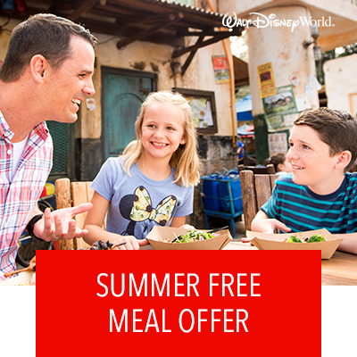 Walt Disney World Summer Free Meal Offer