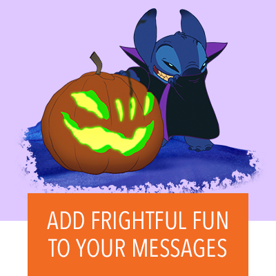 Add frightful fun to your messages!