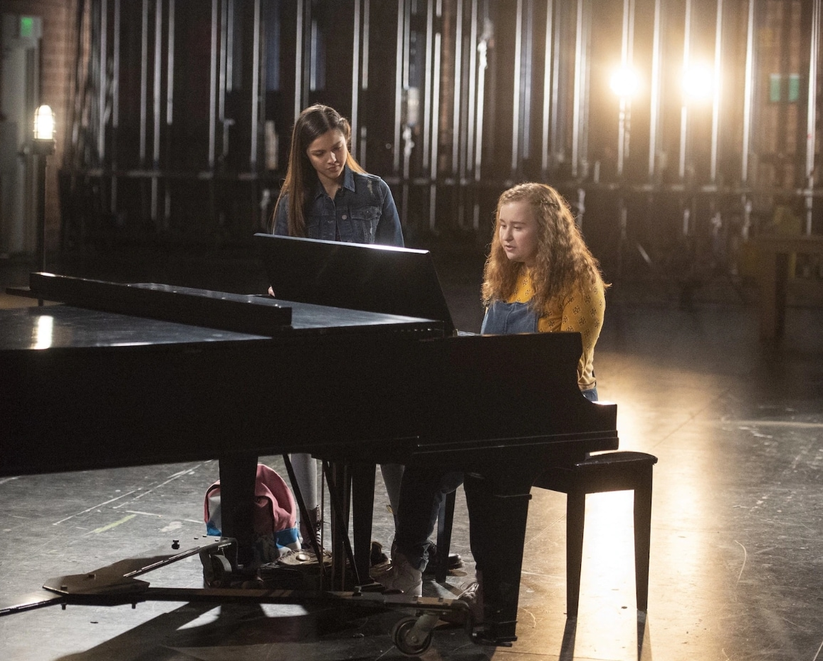 Olivia Rodrigo and Julia Lester on piano