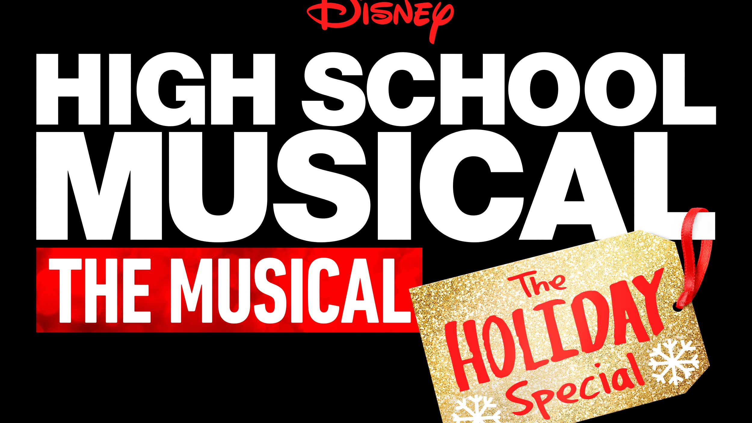 High School Musical: The Musical: The Holiday Special Logo (Black)