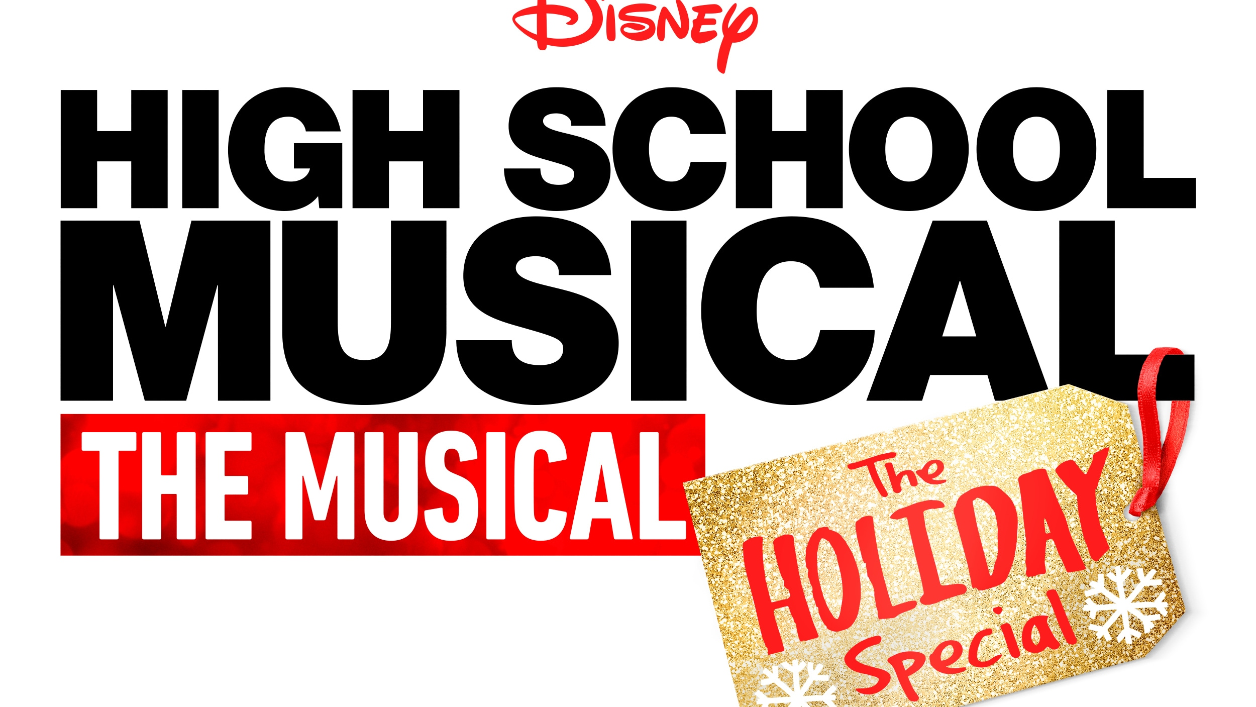 High School Musical: The Musical: The Holiday Special Logo (White)