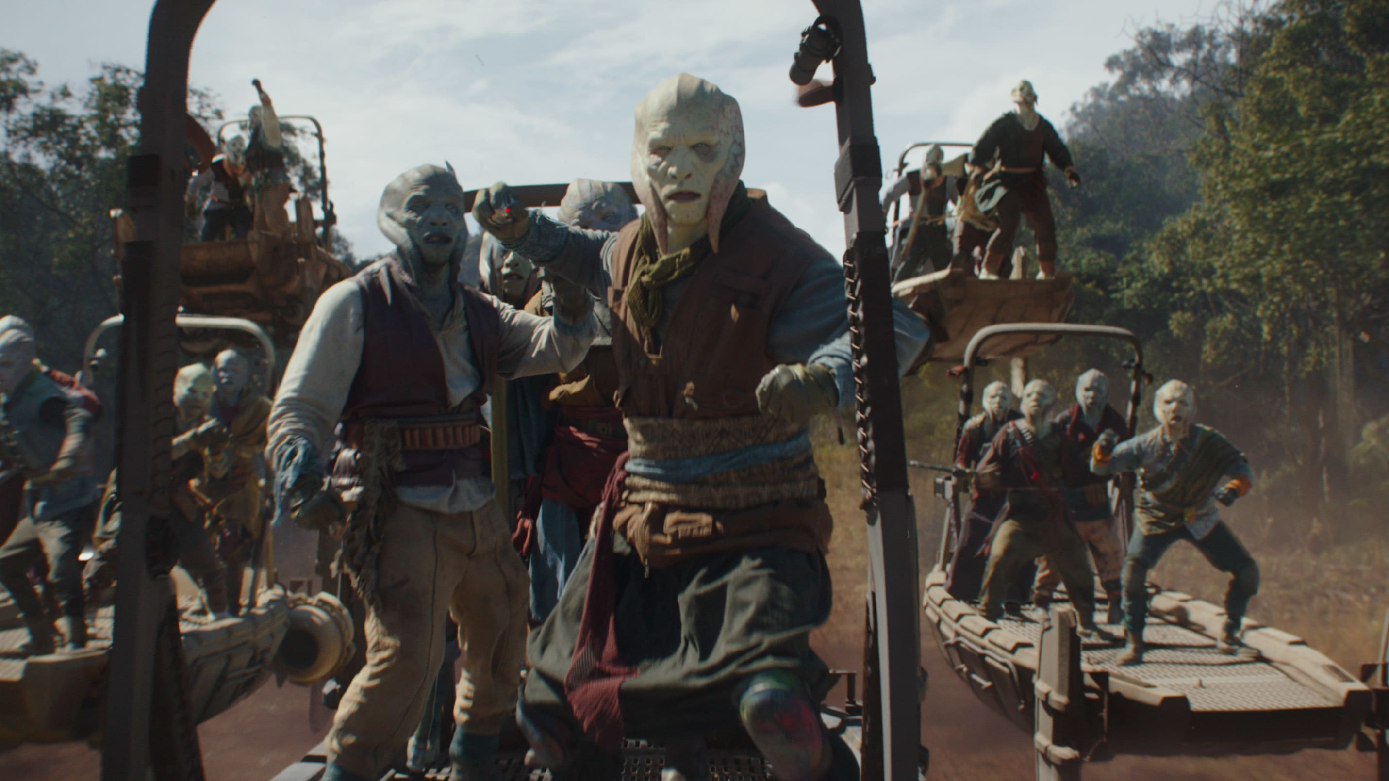 Shydopp pirates in Lucasfilm's THE MANDALORIAN, season two, exclusively on Disney+. © 2020 Lucasfilm Ltd. & ™. All Rights Reserved.