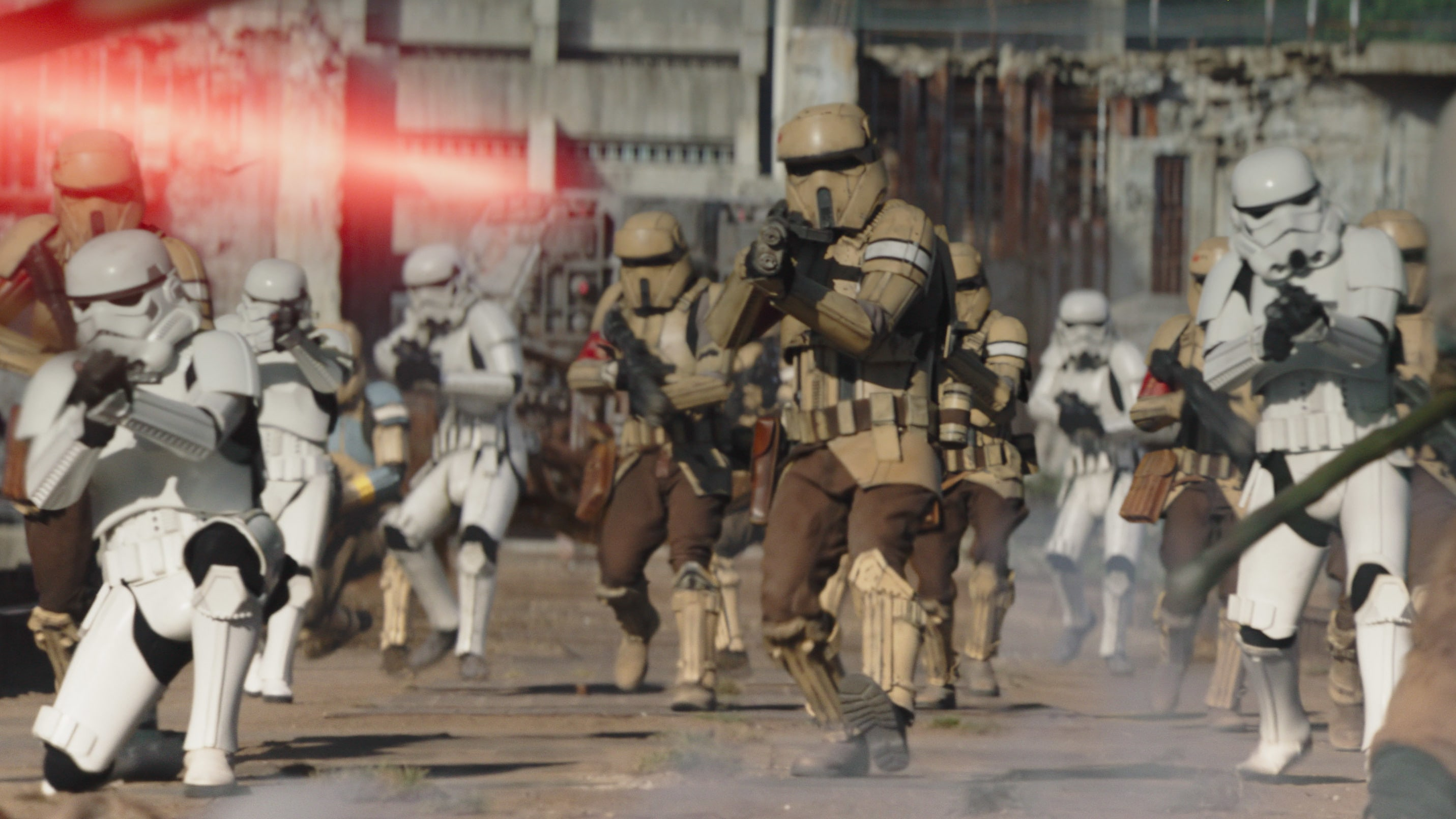Stormtrooper and Shoretroopers in Lucasfilm's THE MANDALORIAN, season two, exclusively on Disney+. © 2020 Lucasfilm Ltd. & ™. All Rights Reserved.