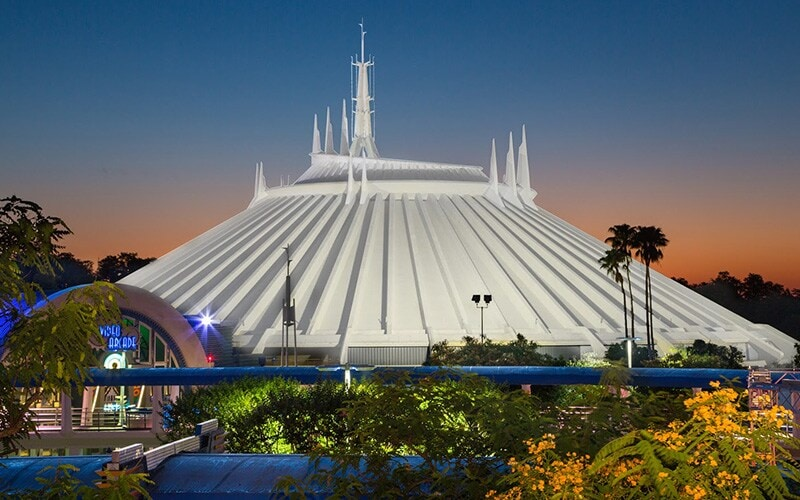 Space Mountain during Sunset at Walt Disney World