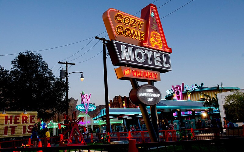 Radiator Springs sign for Cozy cone motel in the California Adventure Resort